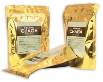 Chaga extract in 100g bags